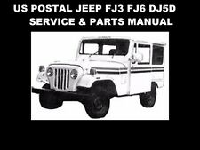 US POSTAL JEEP SERVICE PARTS & DJ-5D TUNING MANUALS DJ5 FJ3 FJ6 Service & Repair