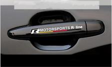 VW Volkswagen 2 St, .Autoaufkleber  Motorsports R-Line  Sticker weiß !!!