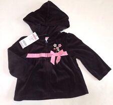 Nwt Gymboree Imaginary Friends 12-18 Months Black Velour Ribbon Hoodie Jacket