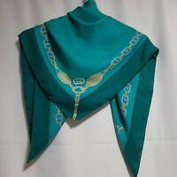 "Gucci  scarf silk  vintage 100% seide  size 34""×34"""