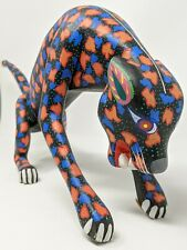 Vintage Oaxaca Alebrije JAGUAR Wood Carving Signed by Fernando Espinal, Arrazola