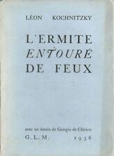 EO N° 1936 GLM LÉON KOCHNITZKY + GIORGO DE CHIRICO : L' ERMITE ENTOURÉ DE FEUX