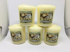 Yankee Candle 5x Milk & Cookies 49g Votives USA EXCLUSIVE VERY RARE