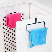 Iron Towel Bar Holder Over the Kitchen Cabinet Cupboard Door Hanger Rack