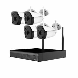 iSentry 4Ch 8MP 5MP 1080P HD NVR with 4x Wifi 25m IR CCTV Cameras Wireless kit