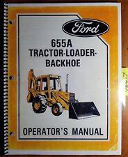 Ford 655A Tractor Loader Backhoe 1985-87 Owner's Operator's Manual SE 4435 685