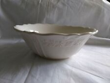 """Corning Ware Traditions Stoneware 7"""" Round Bowl Scalloped Edge Embossed"""