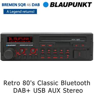 Blaupunkt Bremen SQR 46 DAB Retro 80's Classic Bluetooth DAB+ USB AUX Car Stereo