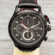 Pulsar Rally P3043X1 Herrenuhr Chronograph Datum Stoppuhr 10 Bar Schwarz