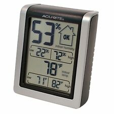 AcuRite 00613A1 Digital LCD Indoor Temperature Humidity Monitor Thermometer New