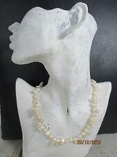 ältere ungetragene Perlenkette Barock Süßwasser Keshi Perlen Handarbeit  50cm