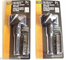 "2 MIBRO INDUSTRIAL 2-1/8"" SELF FEED MULTI SPUR WOOD BORING DRILL BITS 458881"
