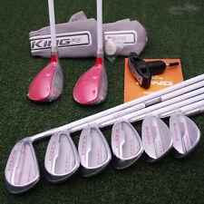 Cobra Golf KING F6 Raspberry Combo Hybrid/Iron Set 4/5h 5/6h 7-SW Ladies - NEW