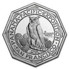 2 oz .999 FINE Silver High Relief Octagonal - Panama-Pacific - IN-STOCK!!