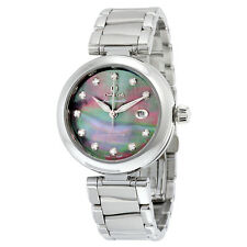 Omega De Ville Ladymatic Black Mother of Pearl Diamond Dial Automatic Ladies