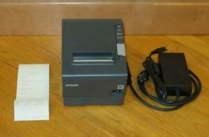 Epson M244A TM-T88V USB+Parallel Thermal Receipt Printer + Power Supply - Tested