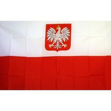 Poland Eagle flag Banner Sign 3' x 5 Foot Polyester Grommets