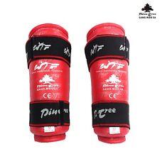 PINE TREE Taekwondo Unterarmschutz Deluxe Red Armschoner Doppel Klettsystem NEU!