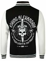 Asking Alexandria Mens Light In The Darkness Varsity AA Jacket Black