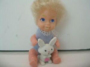 "Vintage Miniature 3"" Baby Doll from 1981 Kidco Sweet Treasures Teeny Tiny Twins"