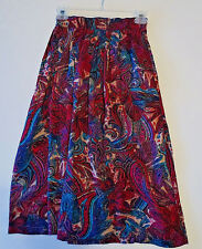 Women's Multi-Color Paisley Print Skirt and Scarf by Maren size Small