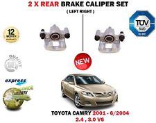 FOR TOYOTA CAMRY 2.4 VVTI 3.0 V6 2001-2004 2X REAR LEFT RIGHT BRAKE CALIPERS SET