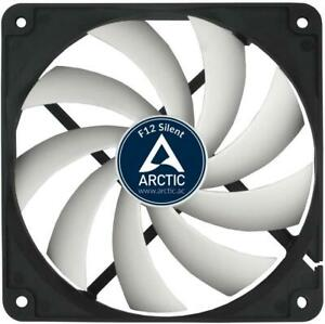 Arctic F12 Silent Ultra-Quiet 120 mm Case  Fan Speed: 800 RPM, Black/White
