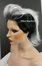Way Cool MOHAWK WIG. New Style called Vivid ...  Black Tipped in White! *
