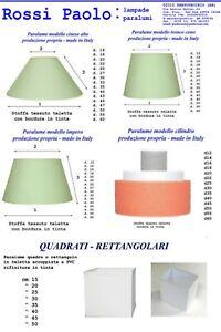 Paralume paraluce coprilampada in tessuto e PVC produzione propria made in Italy