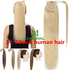 14''-30'' Magic Straps Ponytail 100% Human Hair Comb Pony Tail Hair Extensions