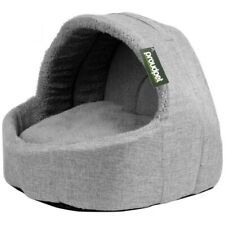 Pet Cat/Kitten Soft Grey Fleece Cushion Igloo Bed Warm/Snug Cave/House Dog/Puppy