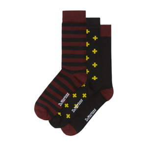 Dr Martens Socks 3 Pack Shoes Boots Airwair Iconic Colours UK Shoe Size 3 - 7.5