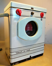 alte Puppen - Waschmaschine aus Blech / Kunststoff 14 cm hoch - Puppenstube