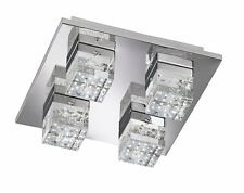 Wofi Dora 4 Light LED Flush Ceiling Light, Chrome
