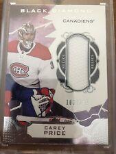 Carey Price Black Diamond Jersey Card