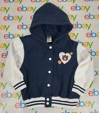 Colosseum Kids Girl's Size 4T Auburn Tigers Hearts Hooded Letterman Style Jacket