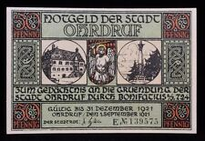 1921 German Notgeld 50 Pfennig 139575 Ohdruf Emergency Inflationary Currency