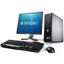 Sistema COMPLETO COMPLETO Dell Desktop Tower PC Set WiFi & Computer Schermo TFT da 17""