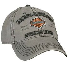 Harley-Davidson® Men's Bar & Shield Gray Stone-Washed Baseball Cap Hat BCC51654