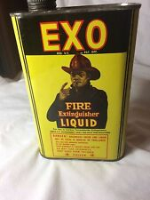 Vintage EXO Fire Extinguisher Tin Container