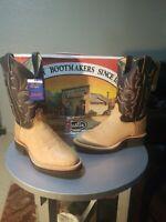 $270Justin Boots 5019 JFlex Pecan Taurus shoulder Crepe Tekno 8EE US Mens Sz NIB