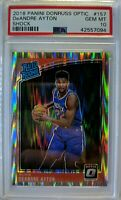2018-19 OPTIC Shock Prizm Deandre Ayton RC #157, Rated Rookie, PSA 10