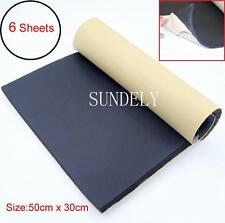 6 Sheets 10mm Car Sound Proofing Deadening Vehicle Insulation Closed Cell Foam