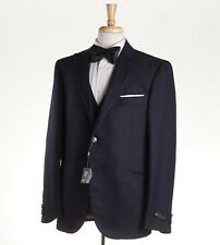 NWT $2275 CORNELIANI 3-Piece Midnight Blue Wool-Silk Peak Lapel Tuxedo 42 R Suit