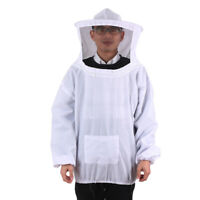 Beekeeping Jacket Veil Smock Protective Equipment Bee Keeping Hat  Suits White