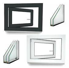 Kellerfenster Kunststoff Fenster Dreh Kipp 2 3 verglast Anthrazit - ALLE GRÖßEN