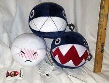 NEW NINTENDO BOO & CHAIN CHOMP PLUSH VIBRATING LOT OF 3! JAPAN! US SELLER!