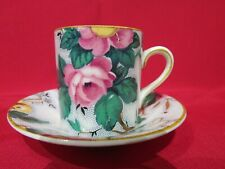 Crown Ducal pretty floral coffee cup and saucer