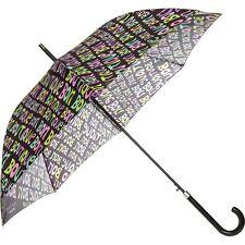BOUTIQUE MOSCHINO Black Slogan Printed Umbrella rrp £81 - New