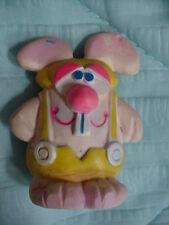 "Vtg-Spearhead-1979-70s-3. 5""-Bunny Rabbit Teeth Yellow Squeak Squeaky Toy Doll"